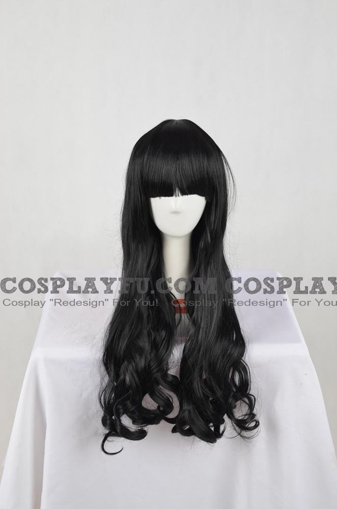 Noir Perruque (Long,ondulés,Lolita,A13)