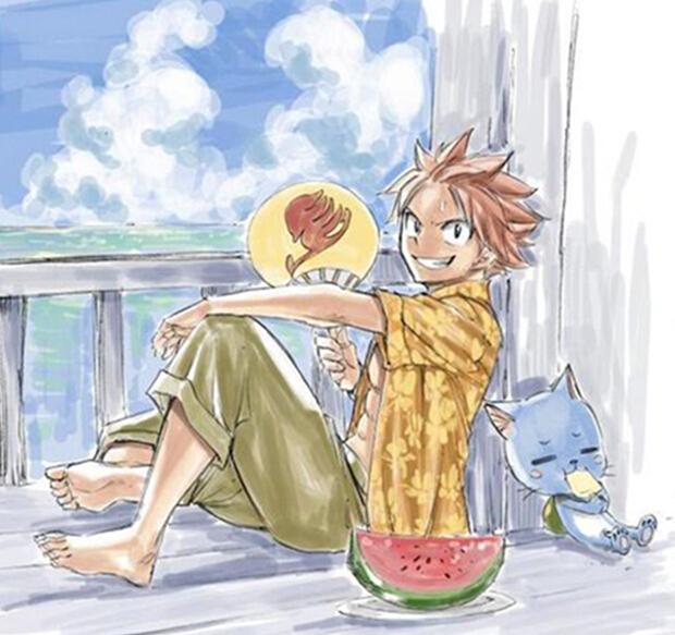 Fairy Tail Natsu Dragnir Costume (Summer)