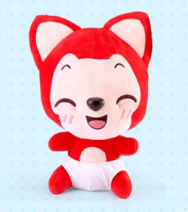 Ali the Fox Plush (Squinting)