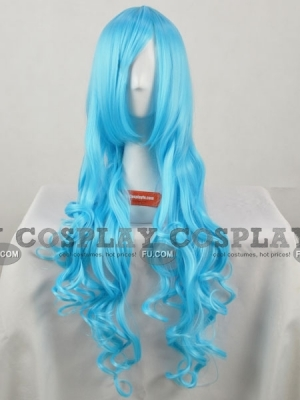 Blue Wig (Long, Curly, XSP010)