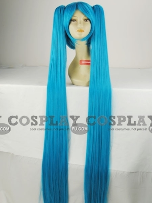 Blue Wig (Long, Straight OBMiku)