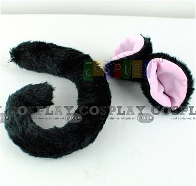 Cat Ears Tail (Black Set) from Tokyo Mew Mew