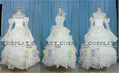 Euphemia Special Wedding Dress Costume from Code Geass
