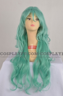 Green Wig (Long,Curly,Neptune2)
