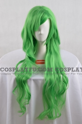 Green Wig (Long,Curly,Scanty)