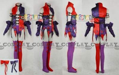 Harley Quinn Cosplay (Purple and Red) from Batman Gotham City