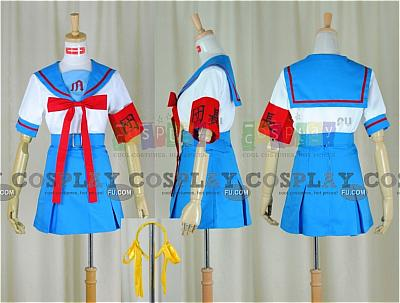 Haruhi Cosplay (Summer Uniform) from The Melancholy of Haruhi Suzumiya