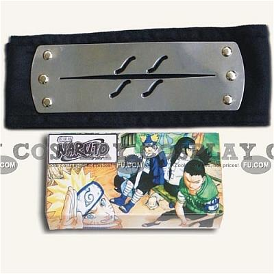 Naruto Headband (Black,Hidden,Mist Village,Package) from Naruto