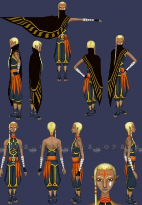Impa Wig from The Legend of Zelda