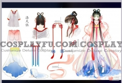 Luo Tianyi Cosplay (Reminiscence of the Red Lotus) from Vocaloid