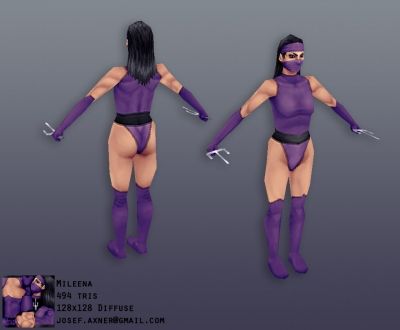 Mileena Cosplay from Mortal Kombat 9