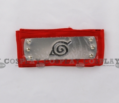 Naruto Headband (Red,Leaf Village) from Naruto
