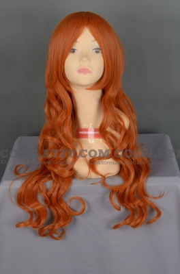 Orange Wig (Long,Curly,HS14)