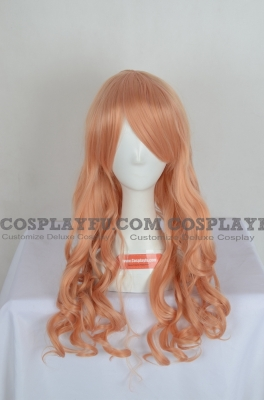 Pink Wig (Blonde Pink,Long,Curly,Maria)