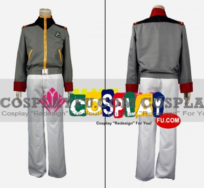 Riddhe Cosplay (Grey Uniform) from Mobile Suit Gundam Unicorn