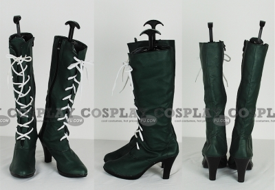 Sailor Jupiter Shoes (Dark Green) from Sailor Moon