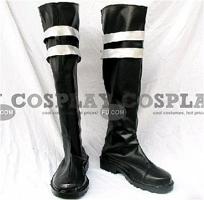 Sephiroth Shoes (Black and White) from Final Fantasy