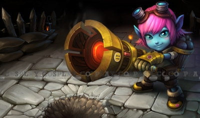 Riot Girl Tristana Cosplay from League of Legends