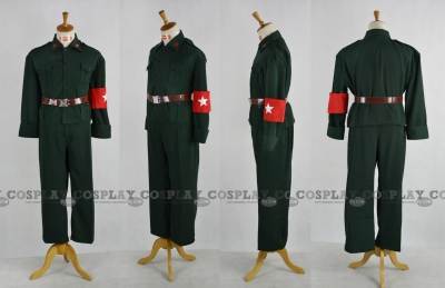 Wang Yao Costume (China,Uniform Green) from Axis Powers Hetalia