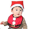 Baby Christmas Bib and Cap (Cole)
