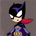 Batgirl Cosplay (Purple Version) von Batman