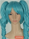 Blue Green Clip-on Costume Wig (Sierra)
