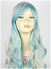 Blue Grey Mix Curly Costume Wig (Madeline)