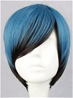 Blue Wig (Mixed,Short,Straight)