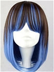 Blue Wig (Mixed,Straight,BOB)