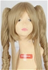 Brown Wig (Medium, Curly, Clip, 12)