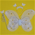 Butterfly Wing (White 3 Pieces Set)