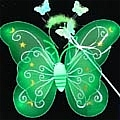Butterfly Wing (Green 3 Pieces Set)
