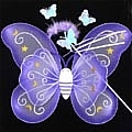 Butterfly Wing (Purple 3 Pieces Set)