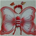 Butterfly Wing (Red 3 Pieces Set)