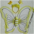 Butterfly Wing (Yellow 3 Pieces Set)