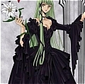 C.C. DVD Cover Costume Black Party Dress from Code Geass