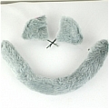 Cat Ears Tail (Grey Set)