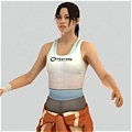 Chell Cosplay from Portal