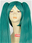 Dark Green Long Clip-on Costuem Wig (Savannah)