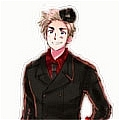 Denmark Costume (coat,hat and gloves) from Axis Powers Hetalia