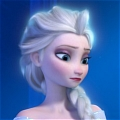 Elsa Cosplay (Blue) De  La Reine des neiges