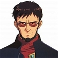 Gendo Cosplay Desde Neon Genesis Evangelion