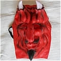Ghost Mask (Red with White Horn)