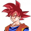 Goku Wig (Red) Da Dragon Ball