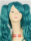 Green Wig (Long, Curly, MMiku)