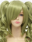 Green Wig (Short, Curly, Clip, 11)