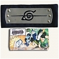 Naruto Headband (Black,Hidden,Leaf Village,Package) Da Naruto