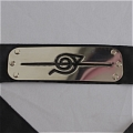 Naruto Headband (Black,Hidden,Leaf Village) Desde NARUTO