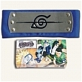 Hidden Ninja HeadBand Leaf Village Blue from Naruto (Package)
