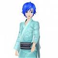 Kaito Cosplay (Kimono) Da Hatsune Miku Project DIVA F